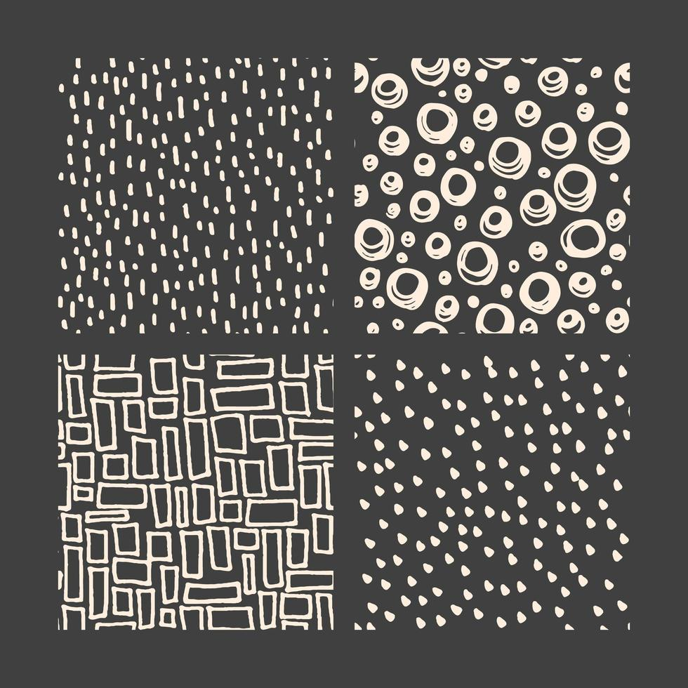 Hand drawn doodle pattern collection vector