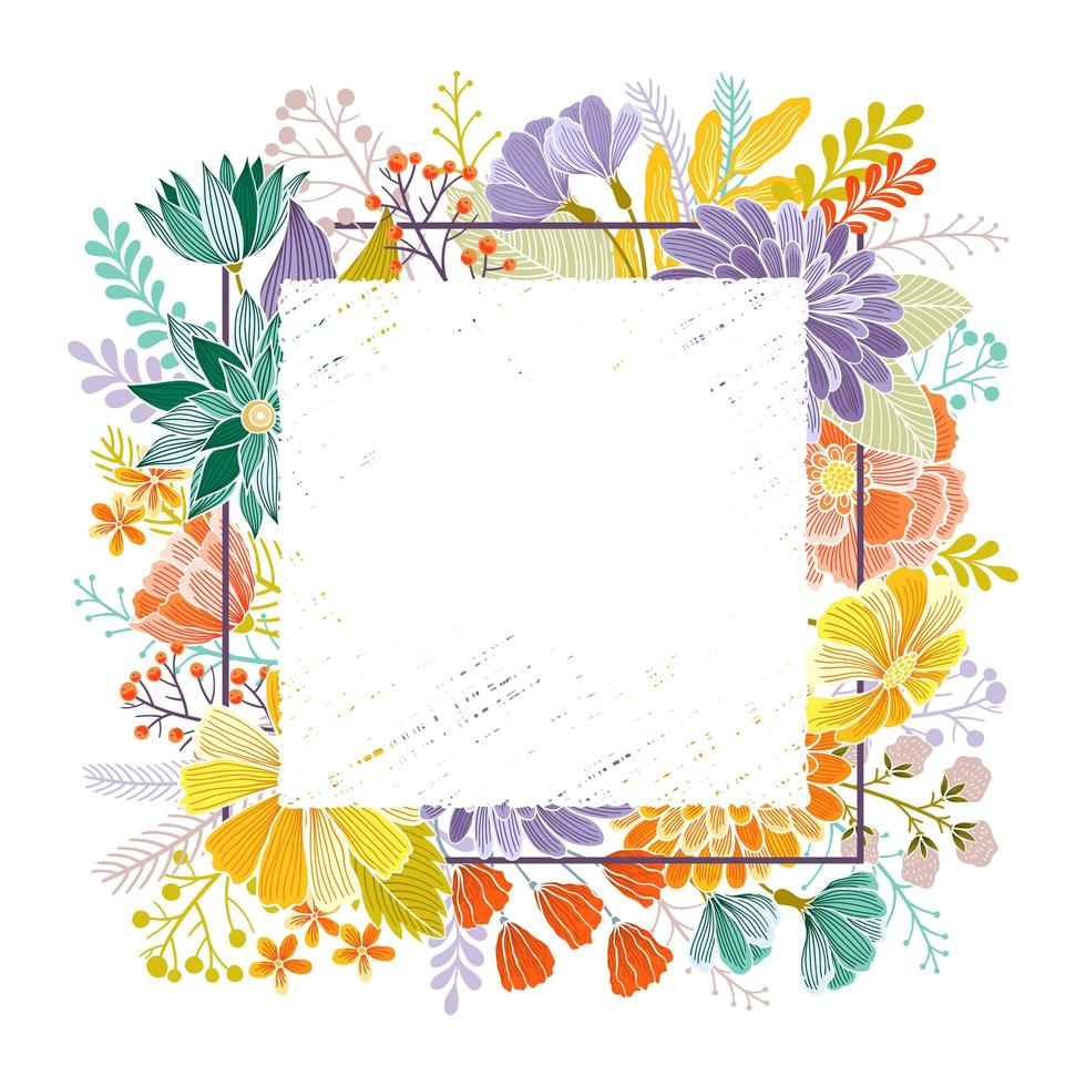 Floral greeting card with place for text vector