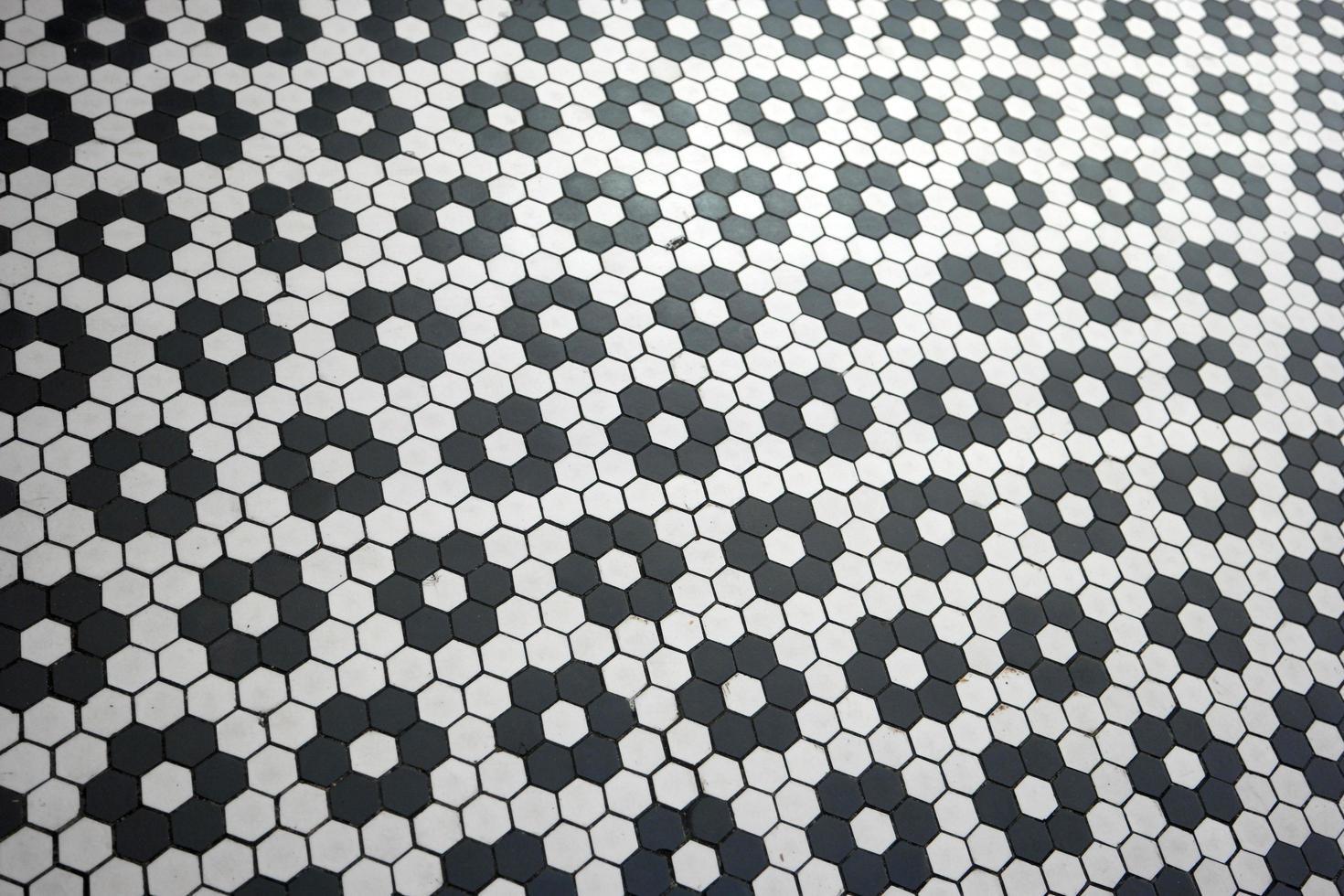 Black and white tile design photo