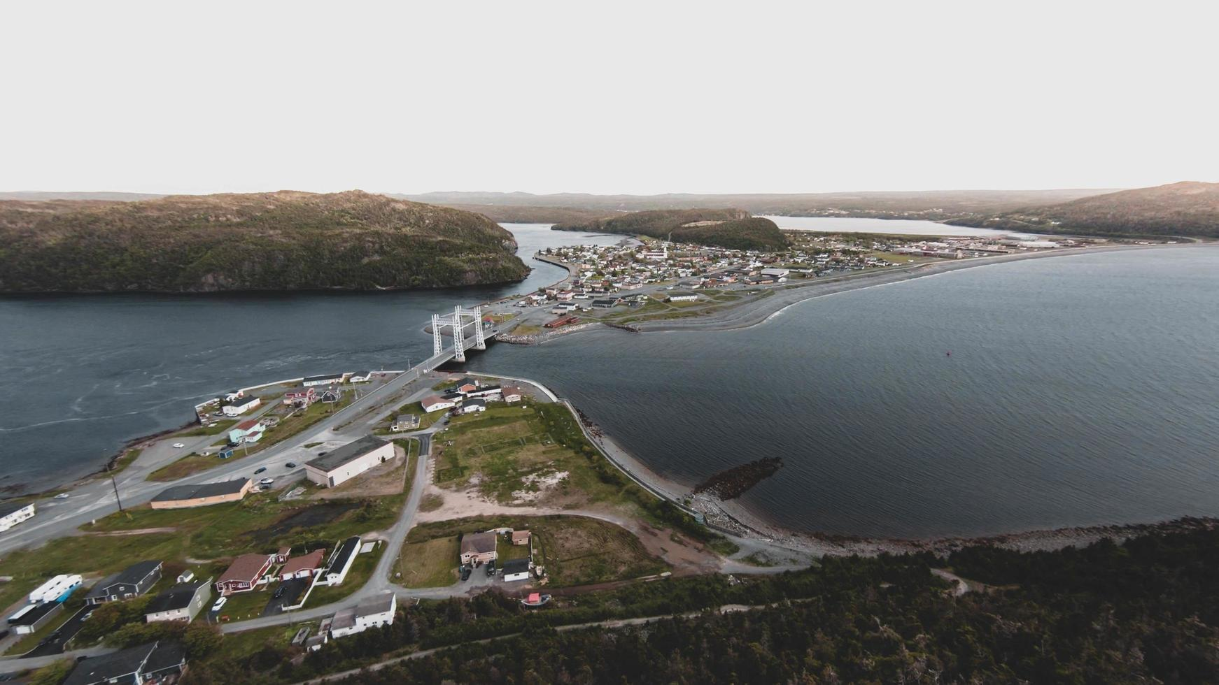 Aerial photo of a bridge