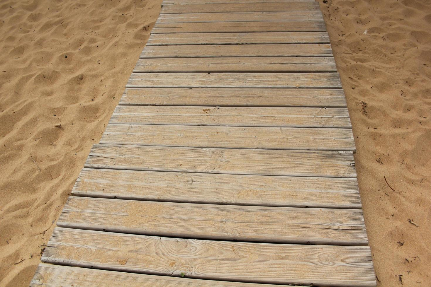 Beach boardwalk path photo