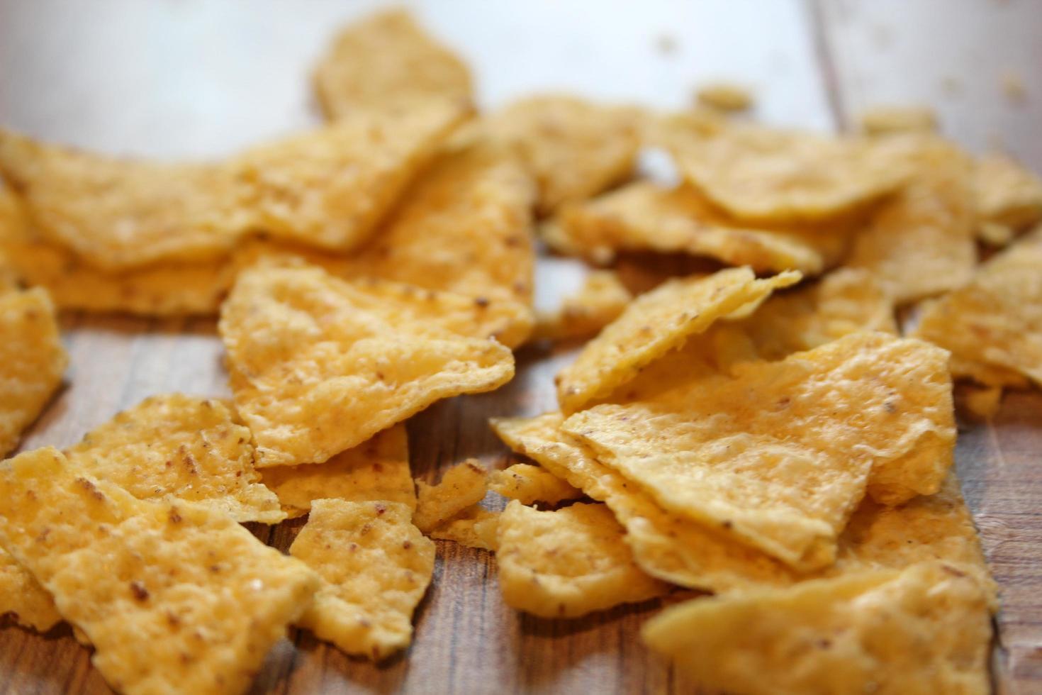 Crunchy broken chips photo
