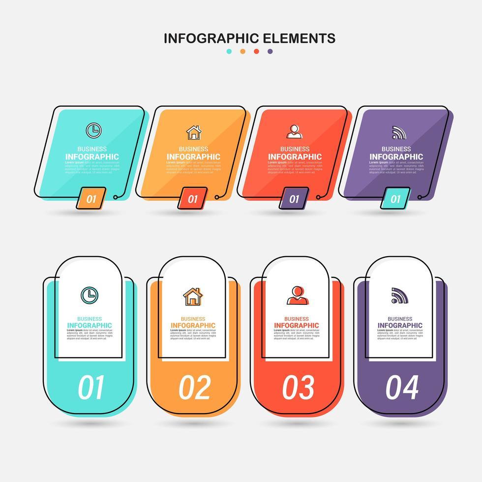 infographics elementen sjabloon set vector