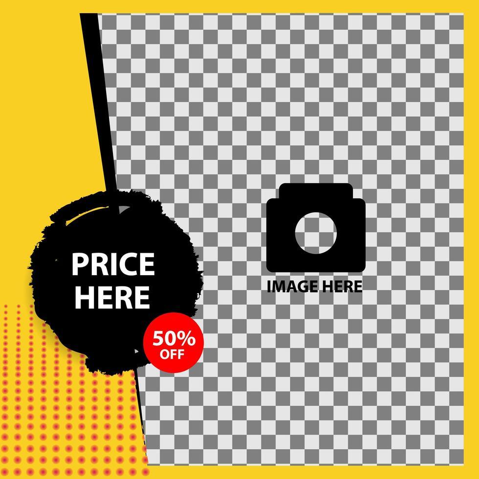 Creative editable sale banner vector