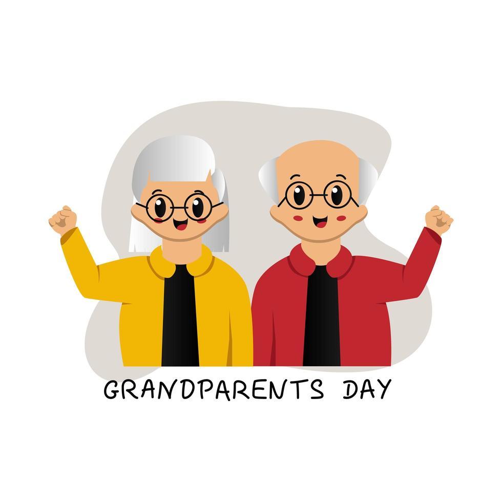 schattig grootouders dag ontwerp vector