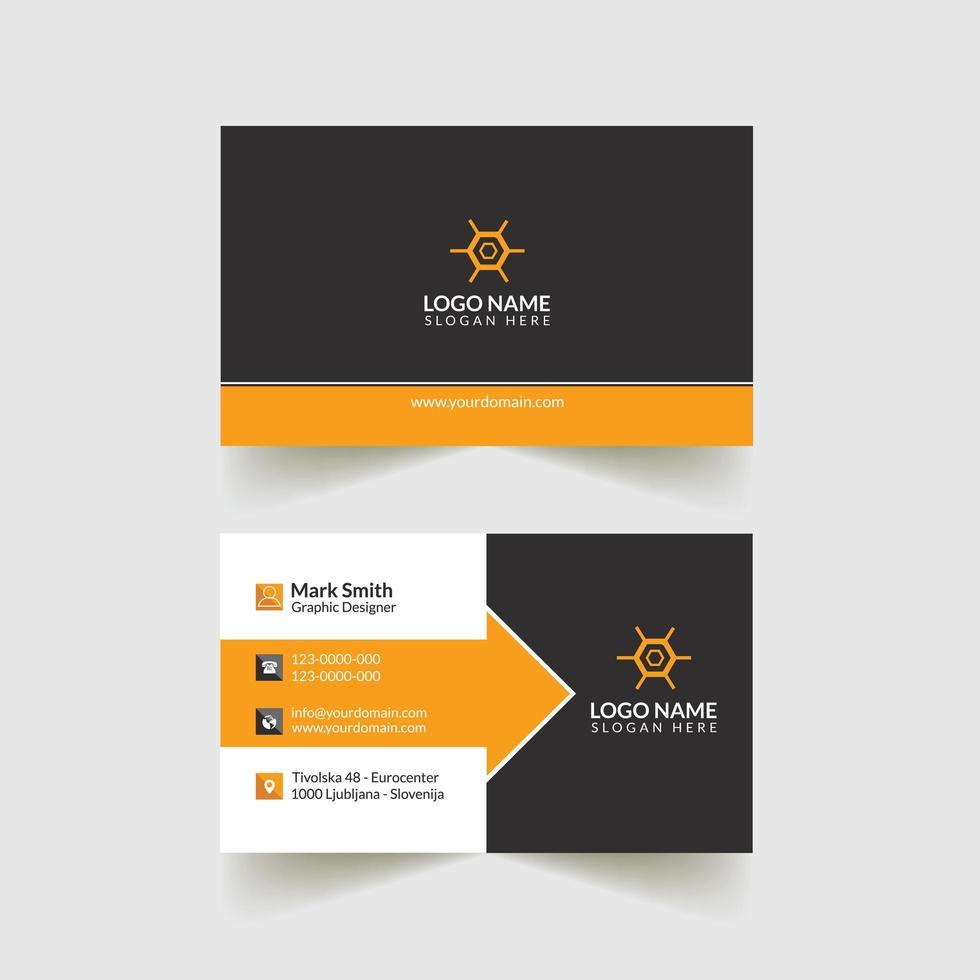 conception de cartes de visite d'entreprise vecteur