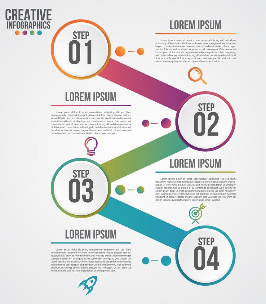modèle de conception moderne infographique pour les entreprises vecteur