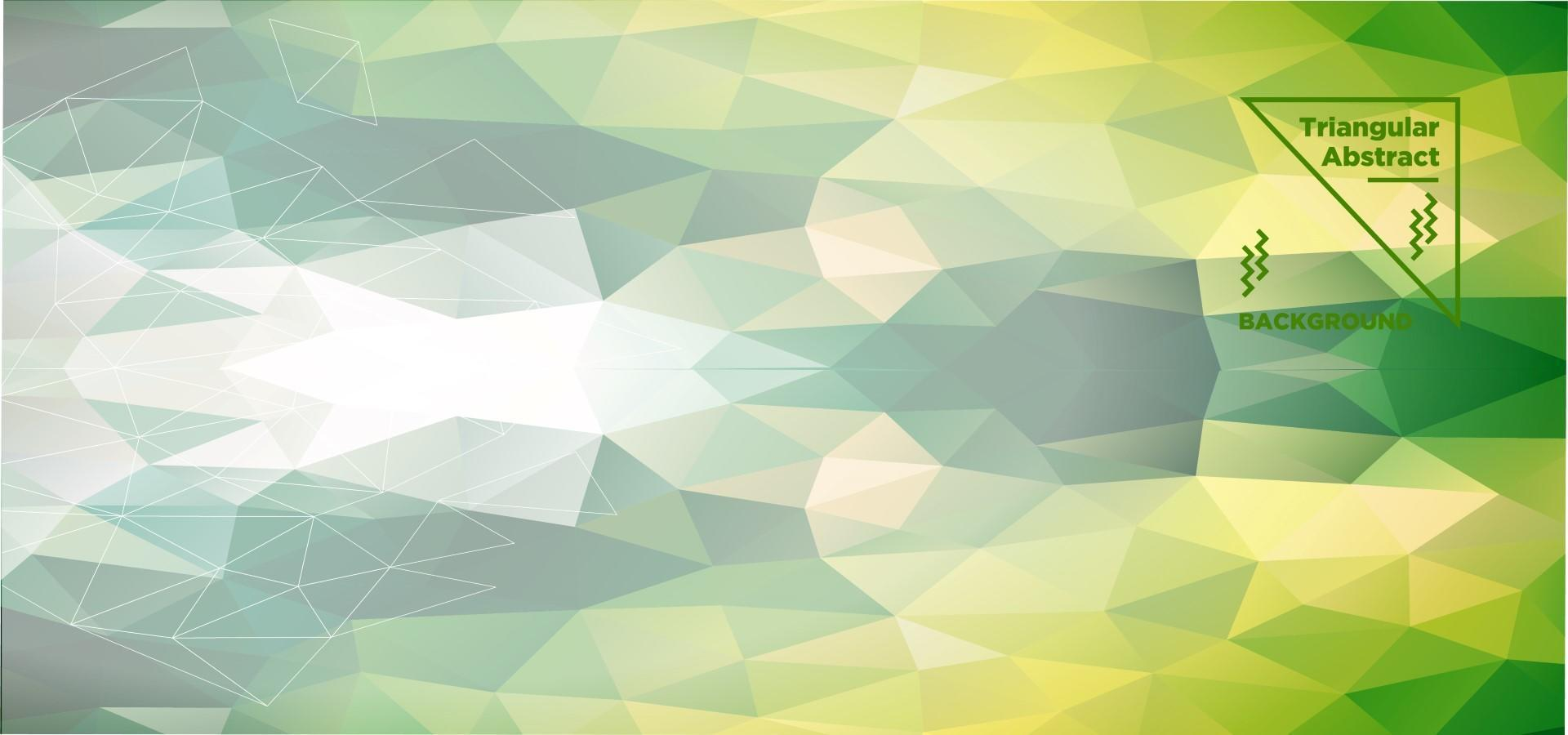 grüner dreieckiger polygonaler Hintergrund vektor