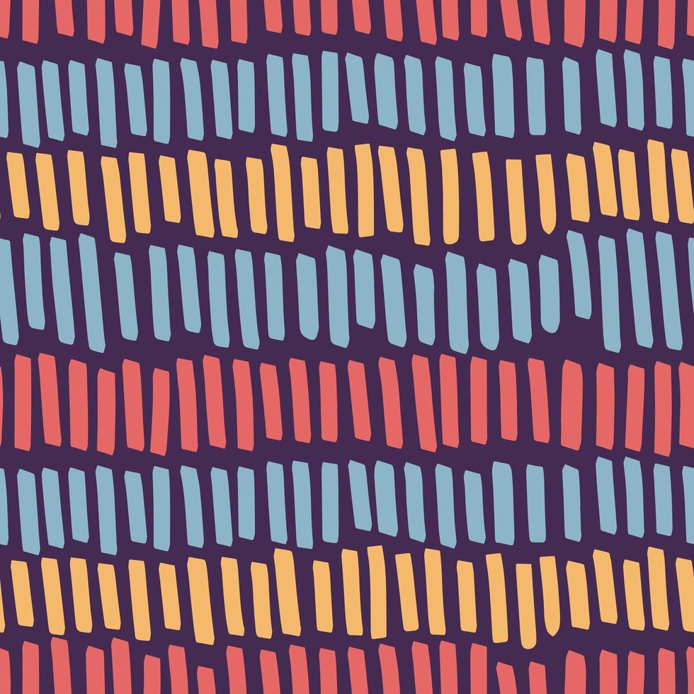 Hand drawn color marker stripes seamless pattern vector