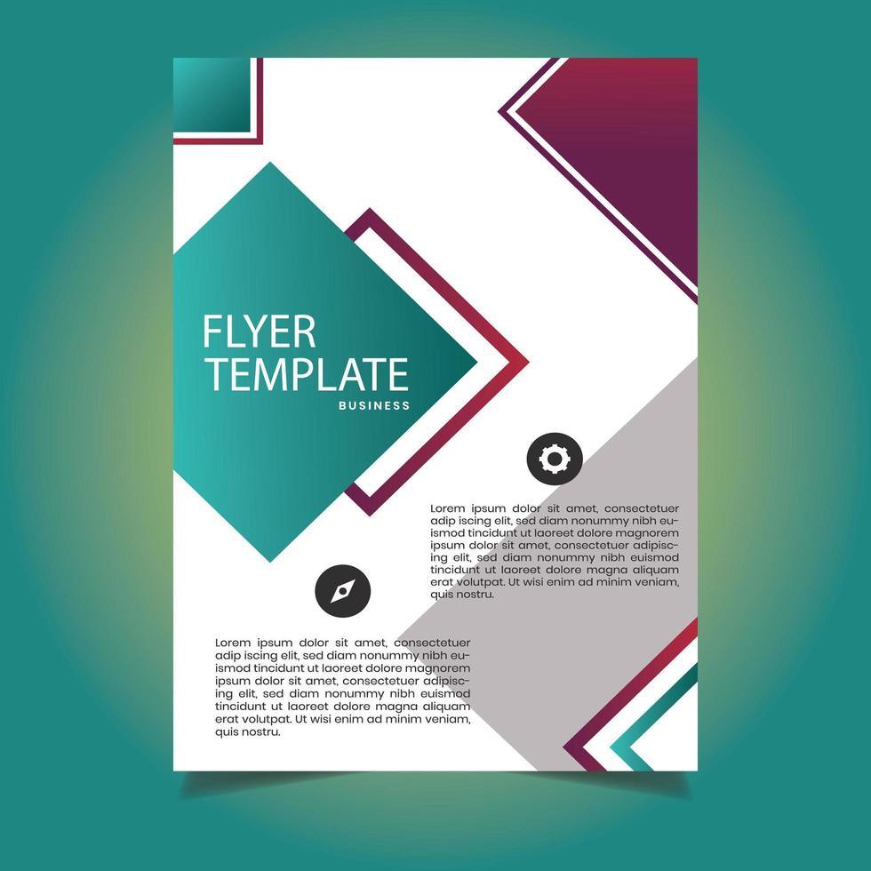 kreative Farbverlauf Diamant Flyer Vorlage vektor