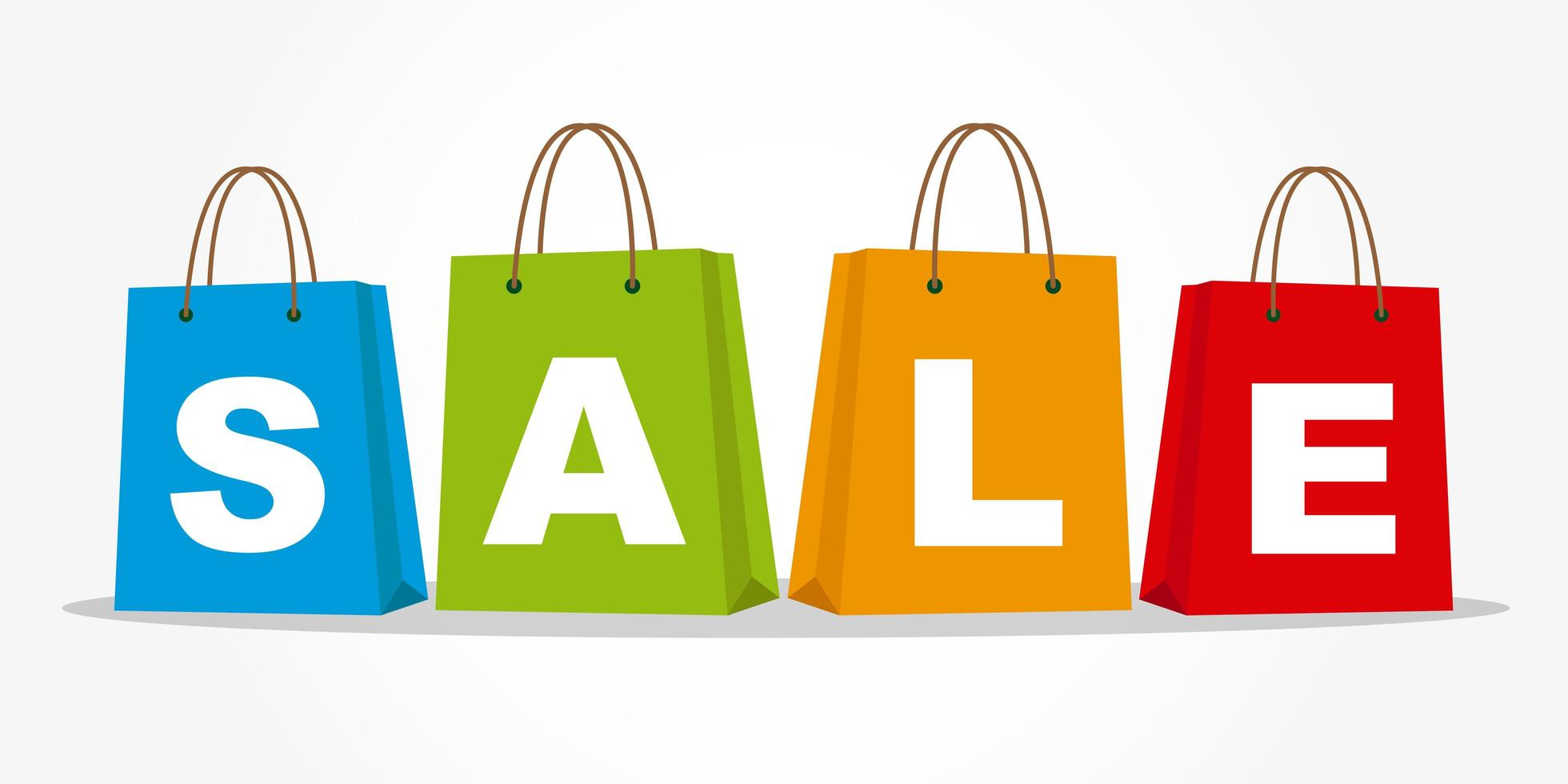 Shopping bags with SALE text vector