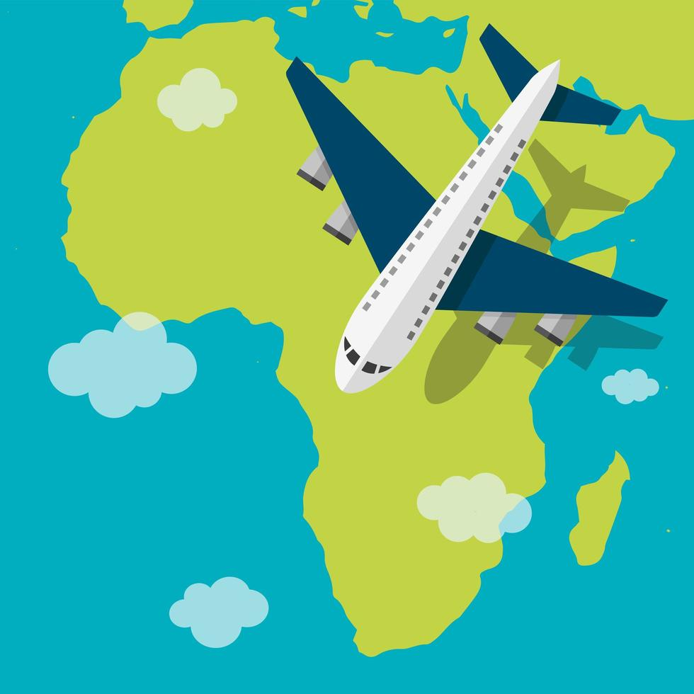Continent travel concept vector