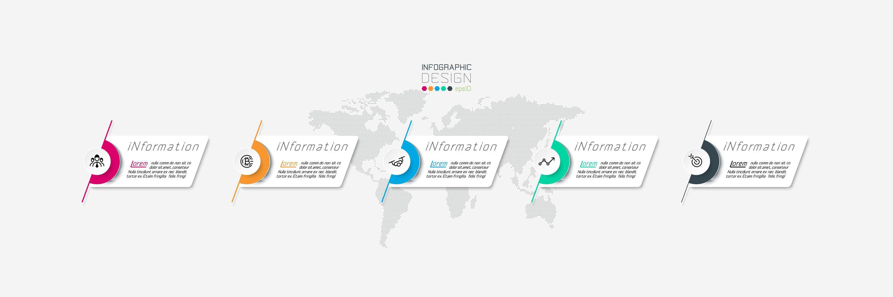 moderne labels infographic ontwerpsjabloon vector