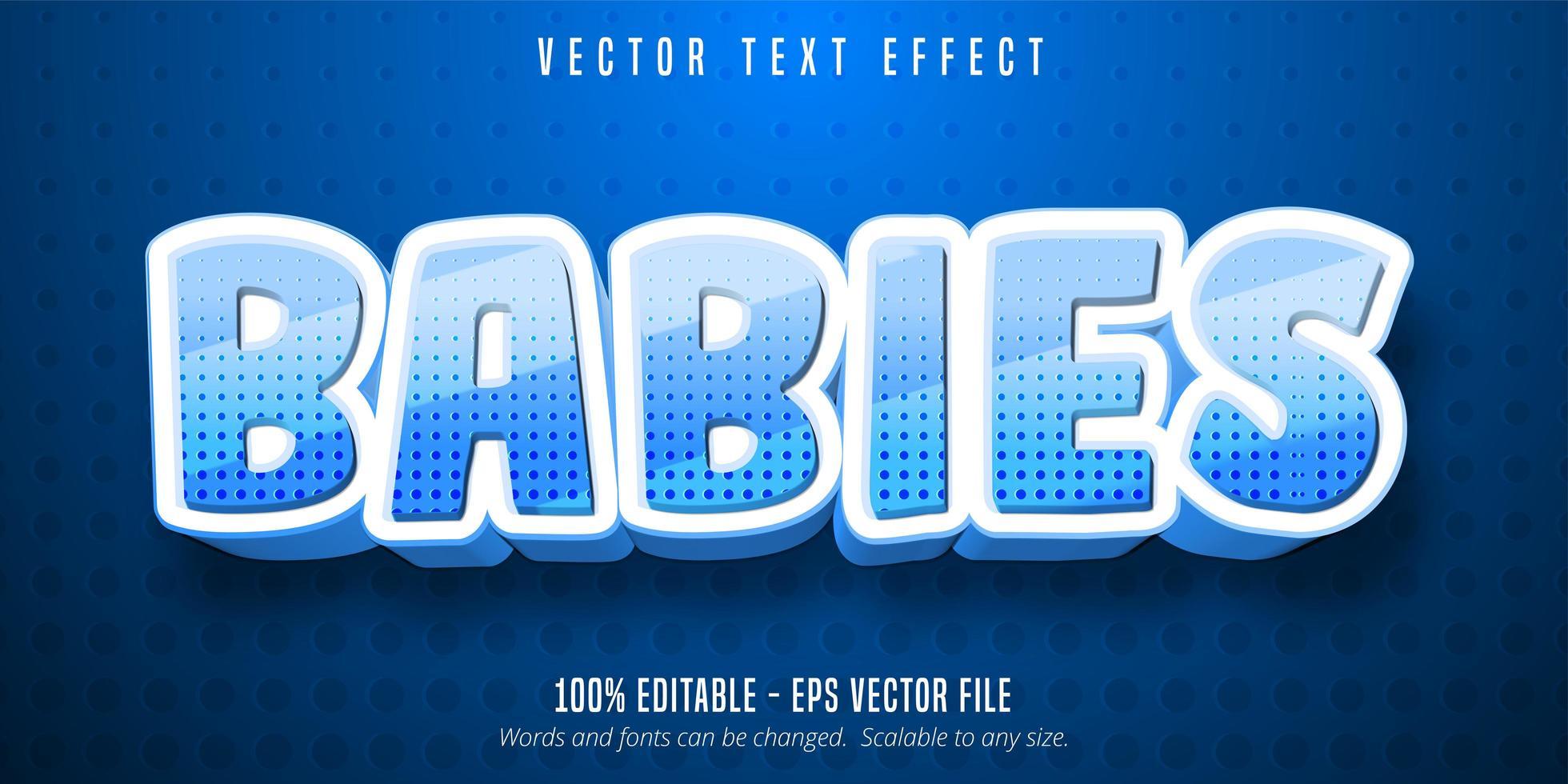 baby's cartoon-stijl bewerkbaar teksteffect vector