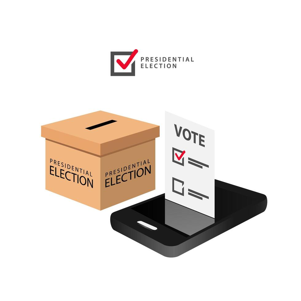 conception d'élection de vote en ligne isométrique vecteur