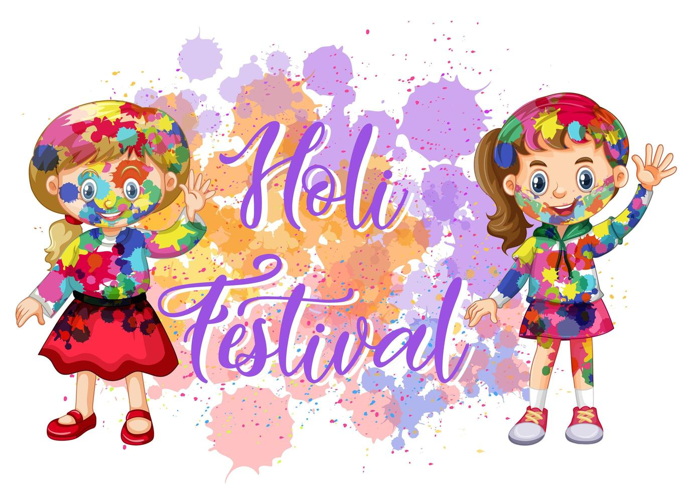 gelukkig holi festival posterontwerp met kleurrijke achtergrond vector