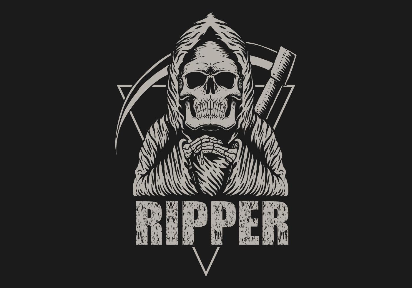 Ripper Sensenmann Illustration vektor