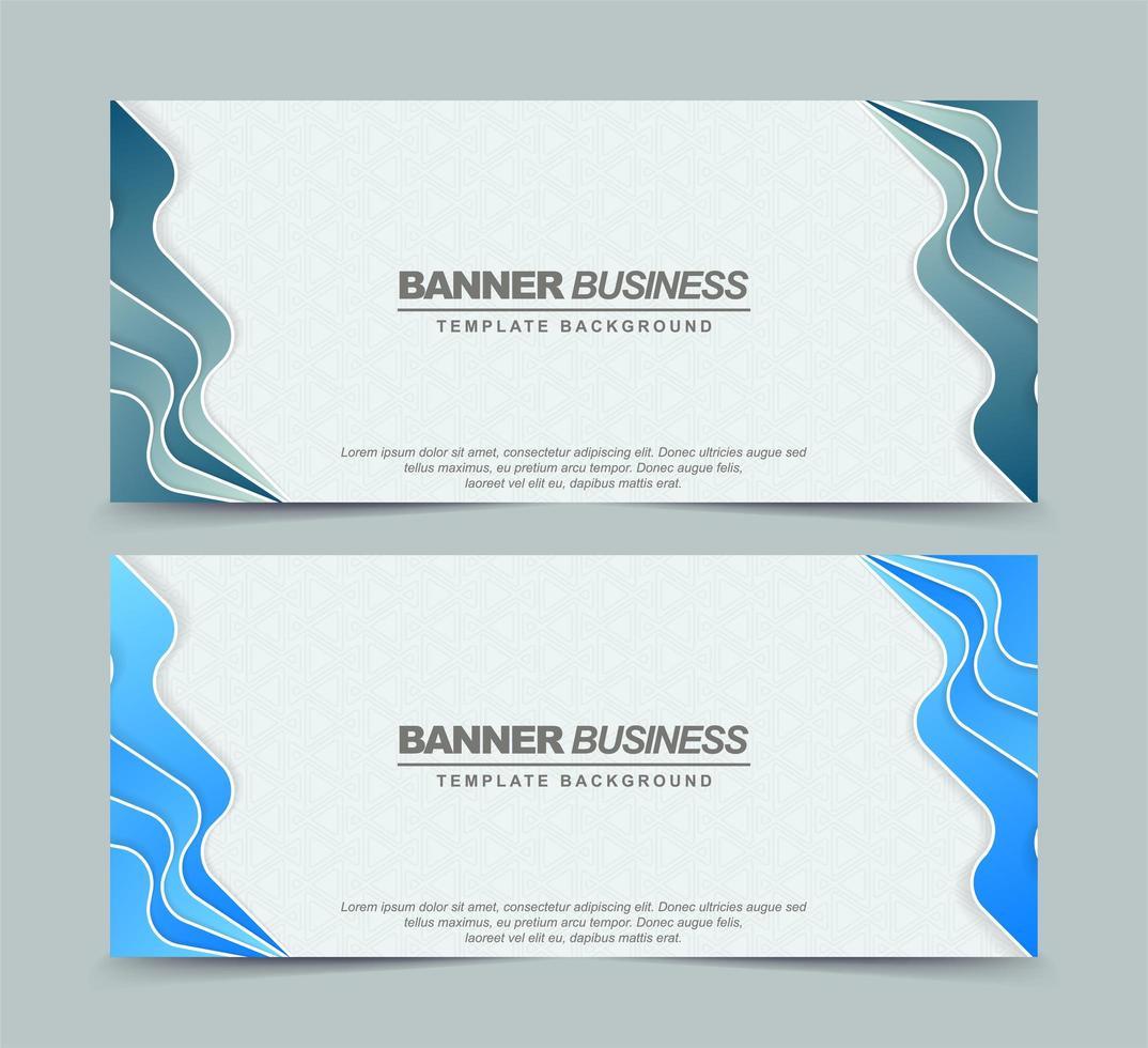 bannières de motif abstrait avec couleur bleue vecteur
