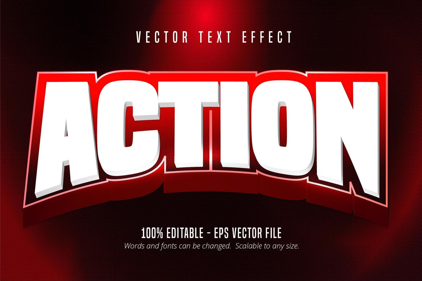 effet de texte modifiable de style sport d'action blanc audacieux vecteur