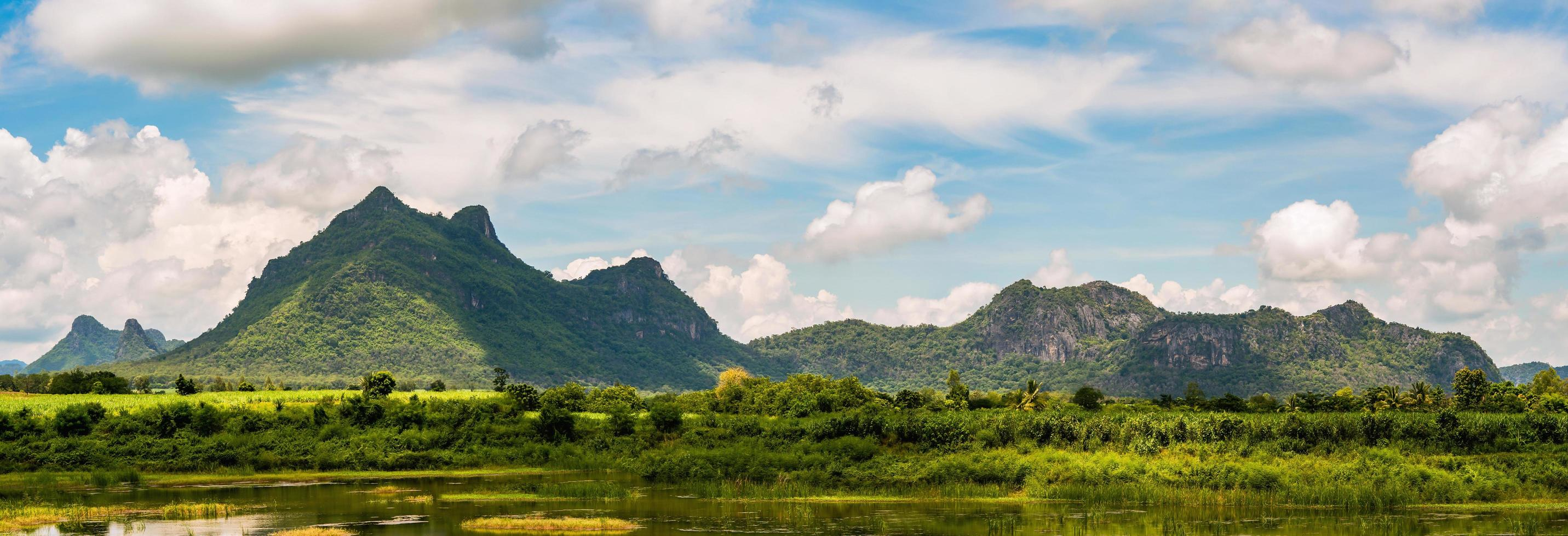 Panorama of mountain landscape in Thailand photo