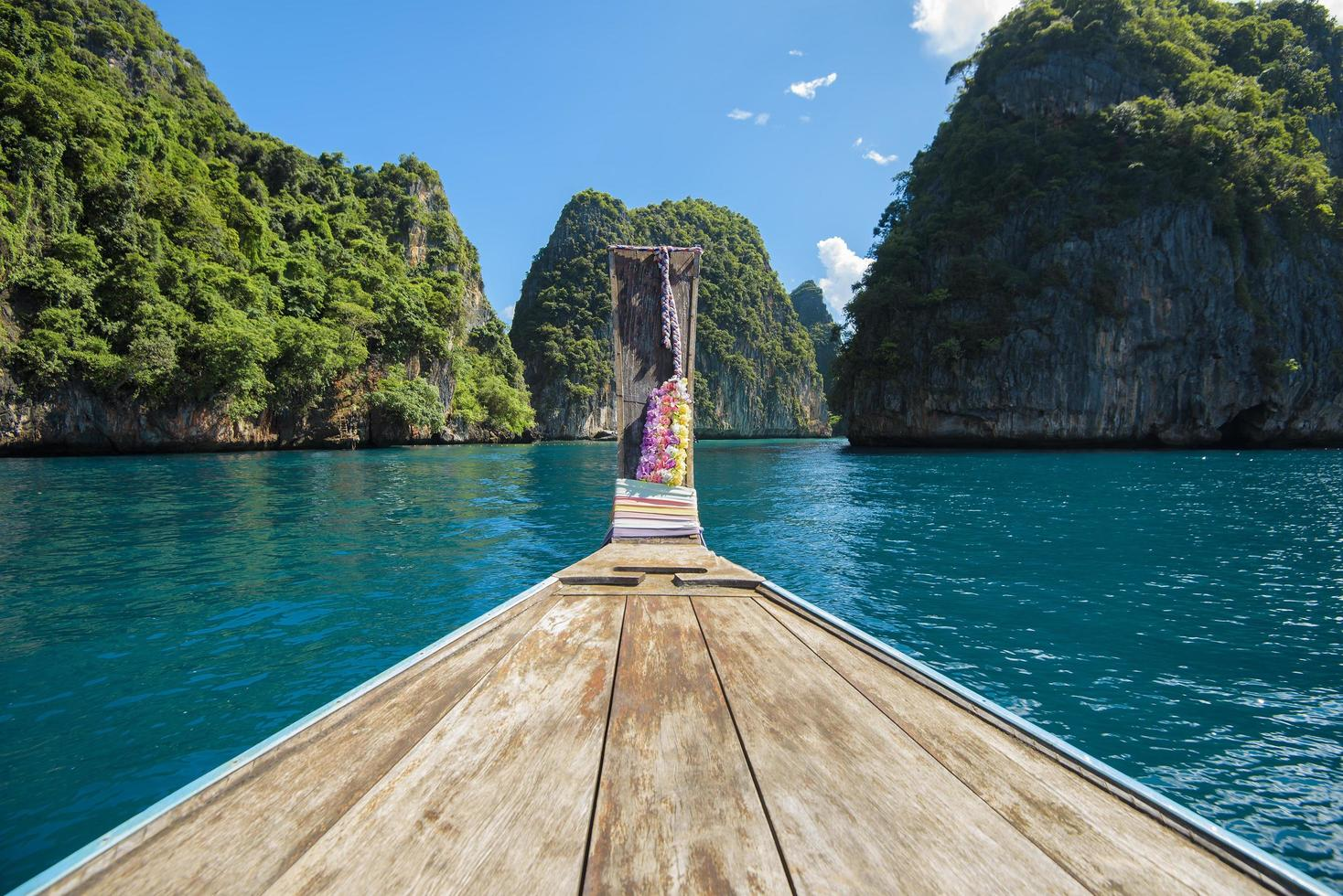 Long tail boat in the Phi Phi Islands, Thailand photo