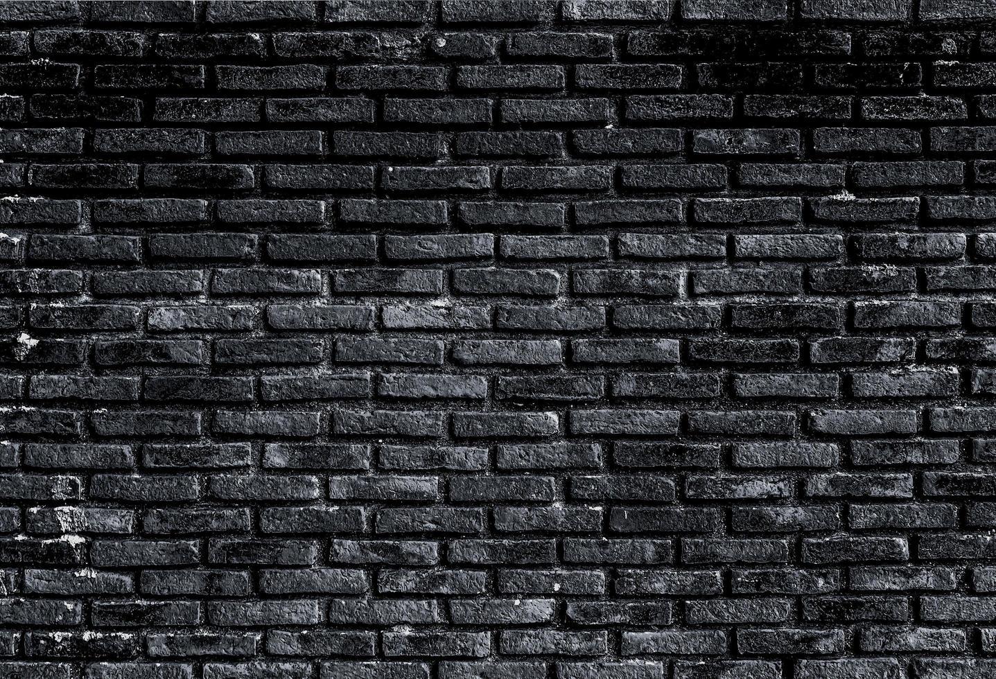 Black brick wall photo