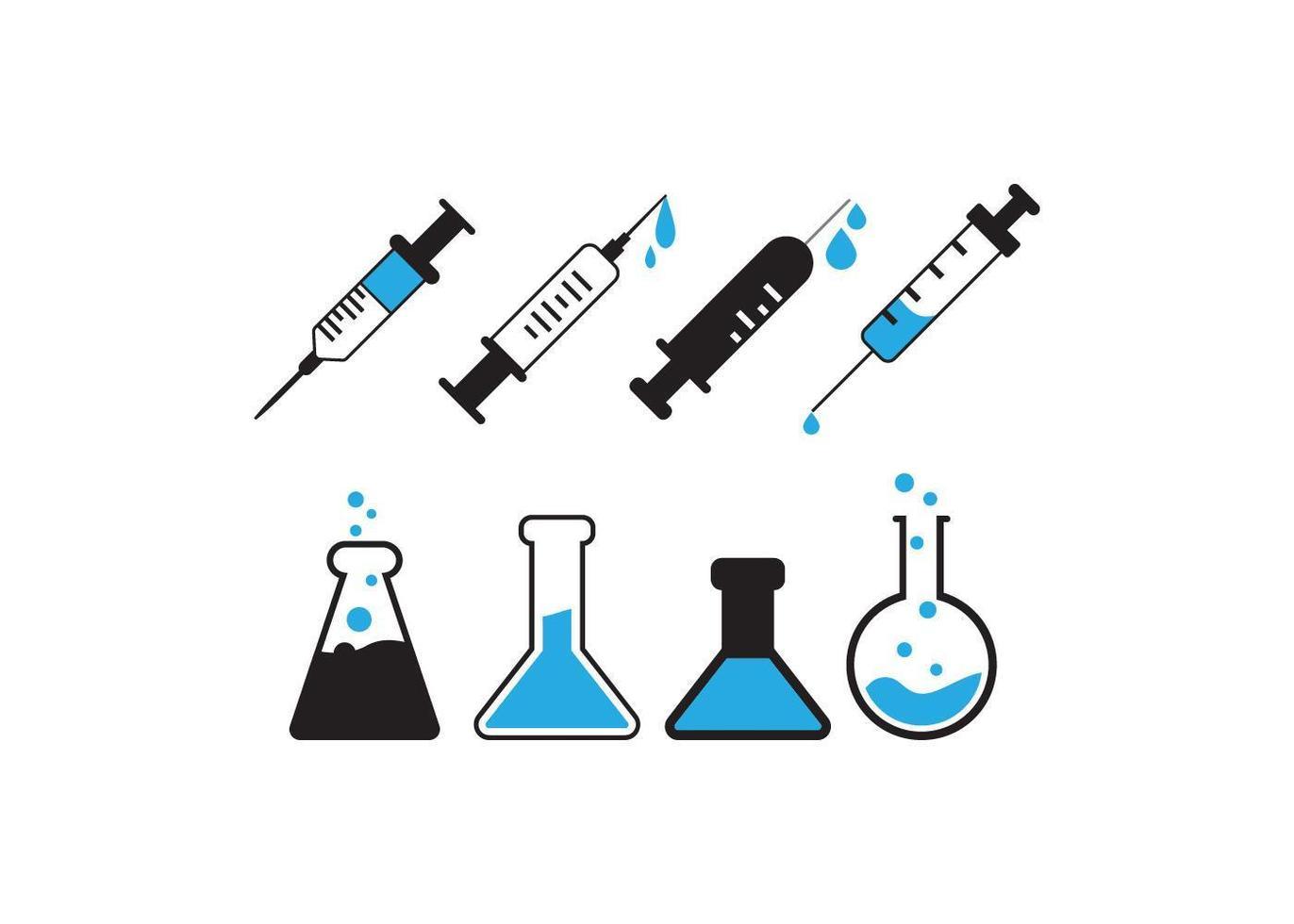 wetenschapper lab items vector