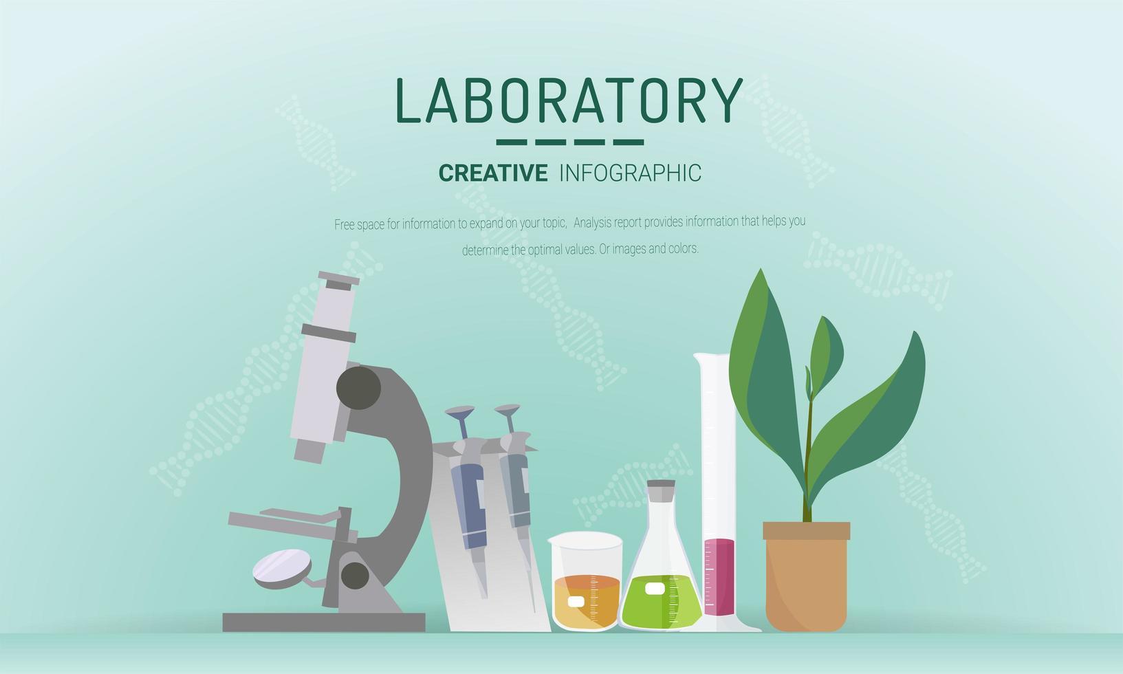 Research laboratory concept vector