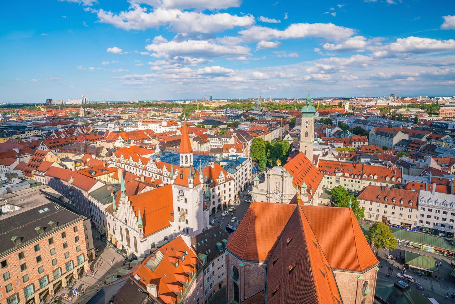 Munich panoramic aerial cityscape view photo