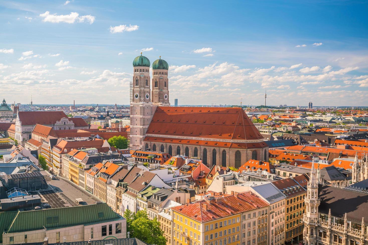 vista aérea del paisaje urbano de munich foto