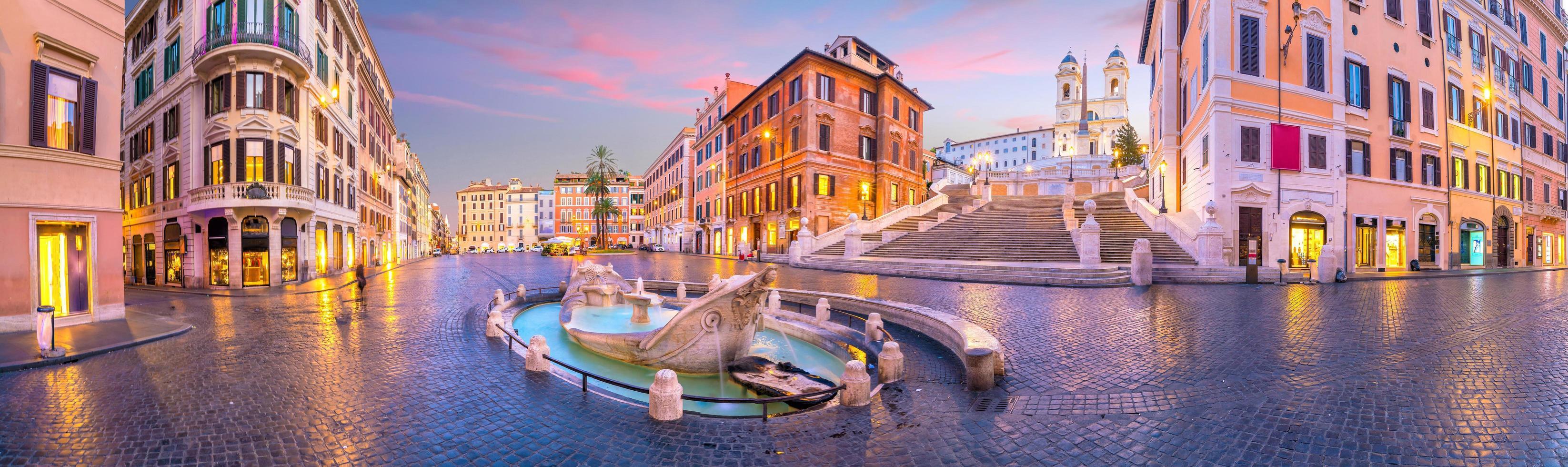 Piazza de Spagna español en Roma Italia foto