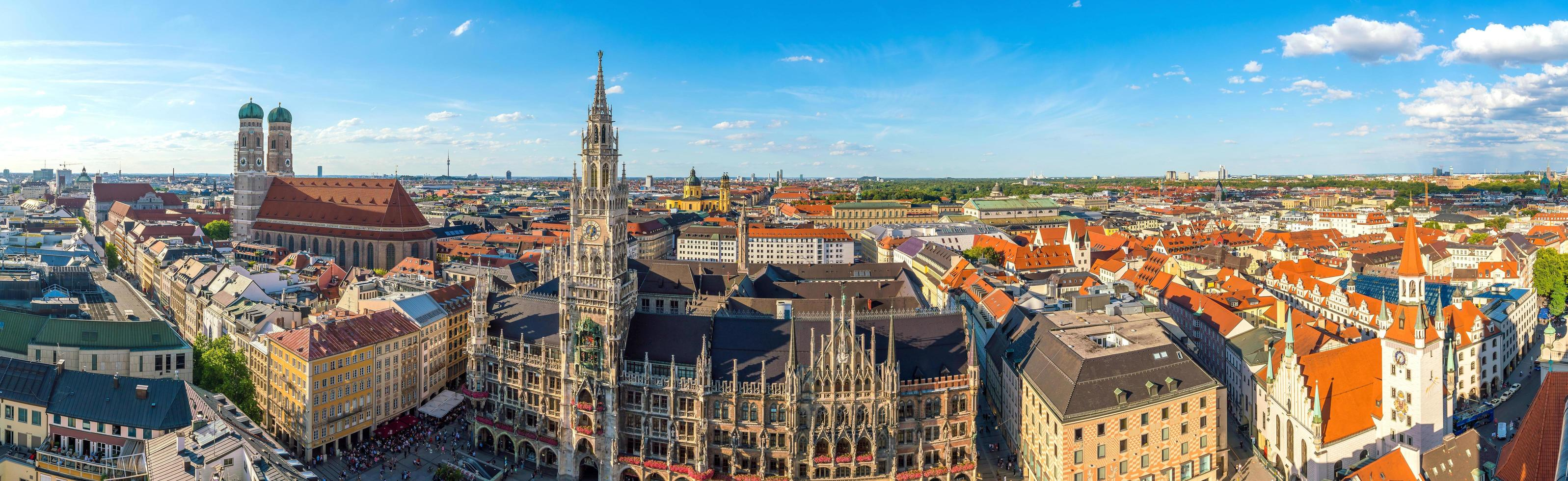 Munich downtown skyline  photo