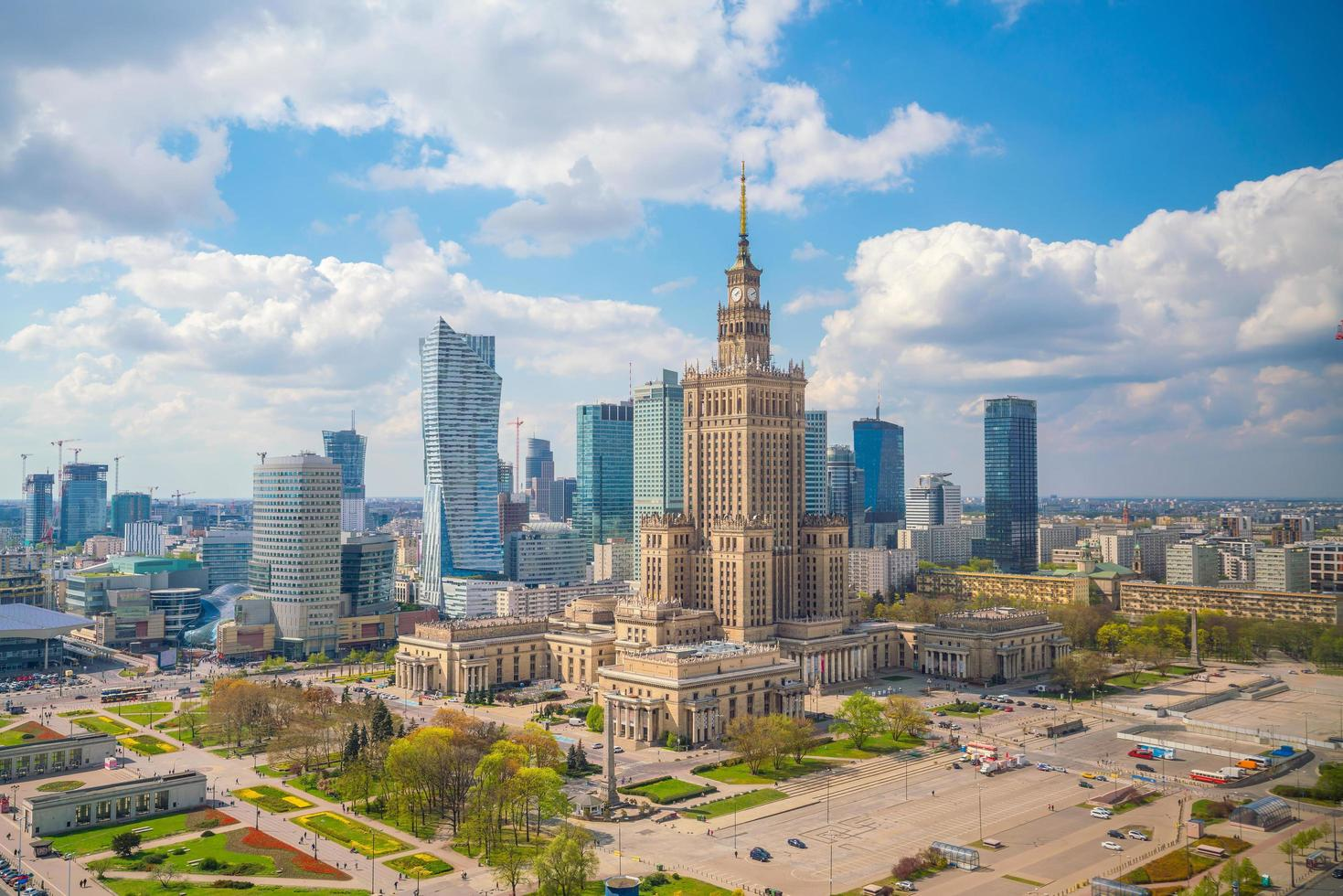 Warsaw city downtown photo