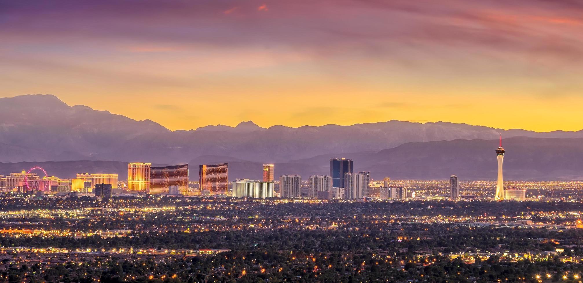 Panorama cityscape view of Las Vegas photo