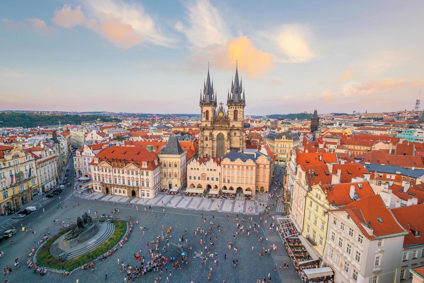 Iglesia de Tyn en Praga, República Checa foto
