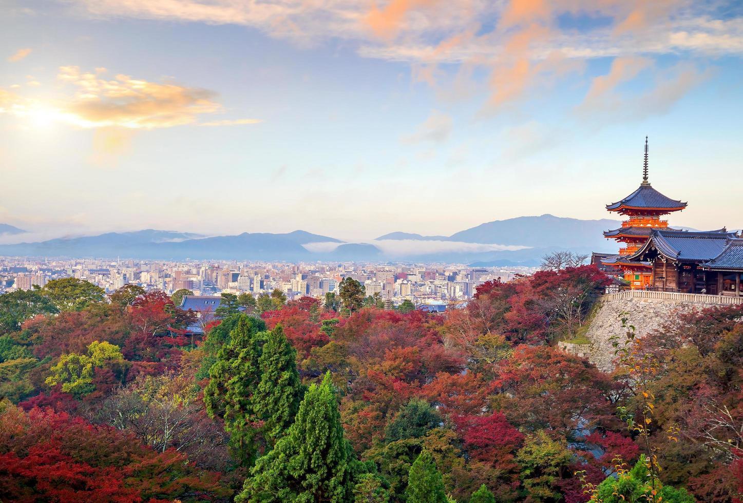 Kyoto skyline colors  photo