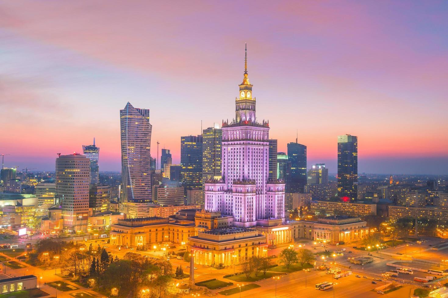 Warsaw city skyline photo
