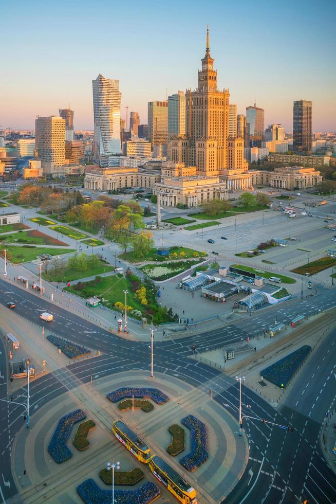Warsaw city skyline in Poland   photo