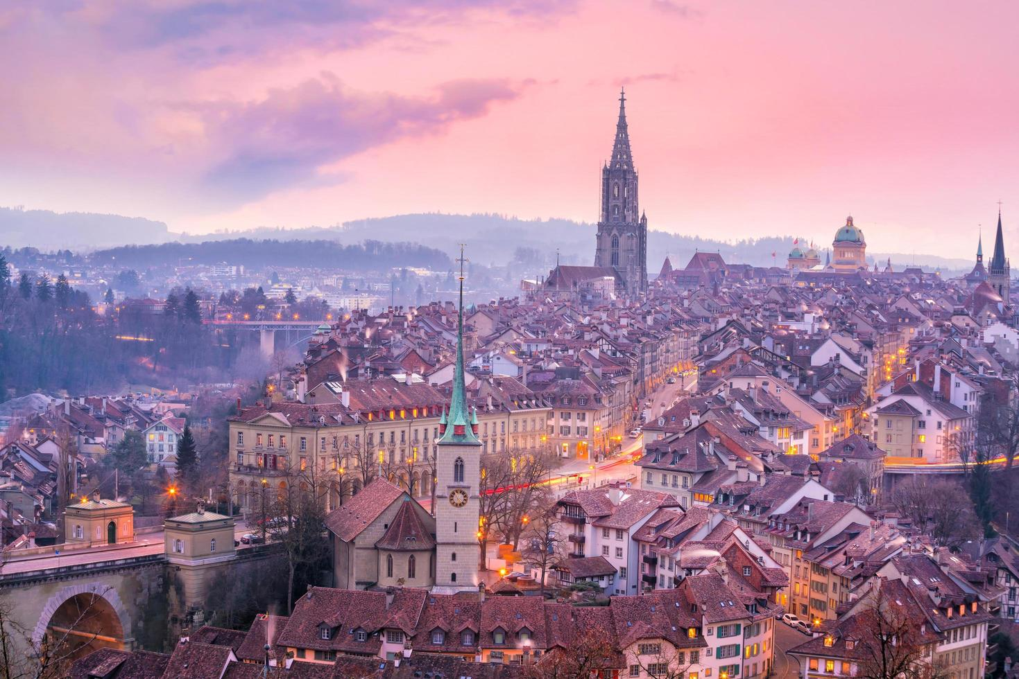 Old Town of Bern, capital of Switzerland in Europe photo