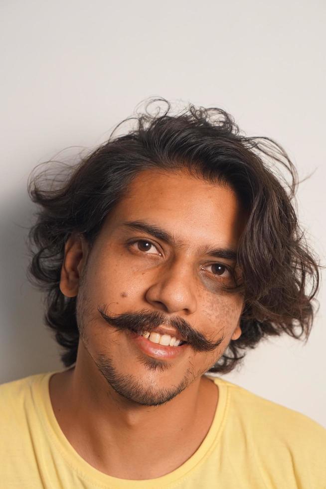 Man with handlebar mustache photo