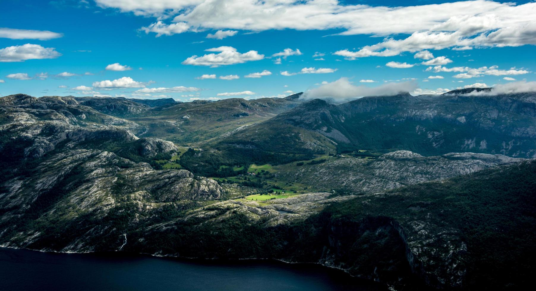 Mountain range in Norway photo