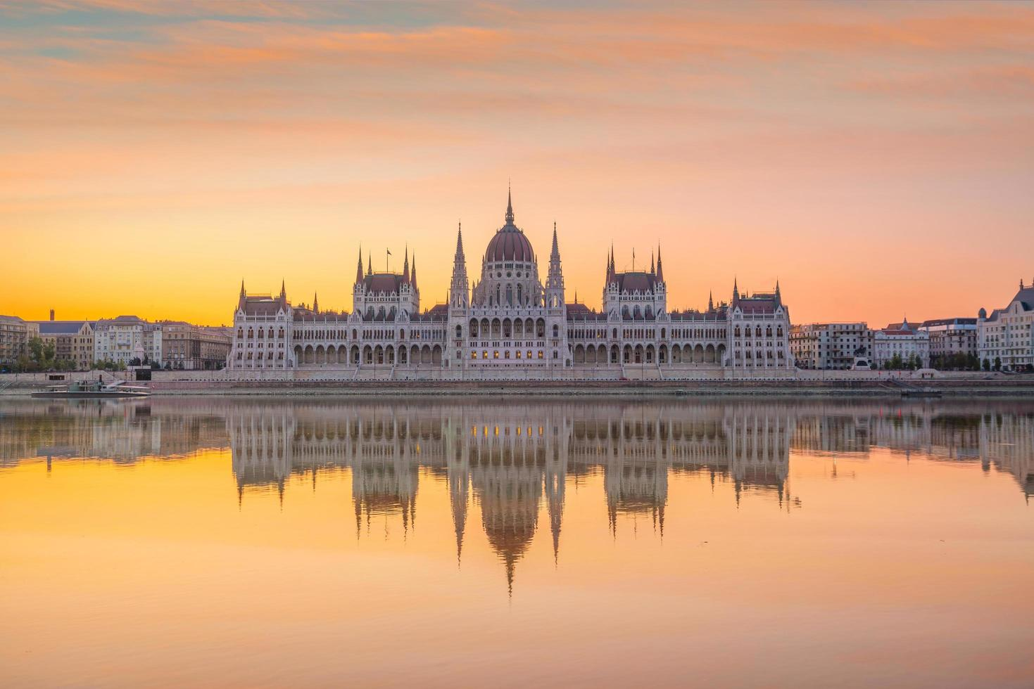 Parliament building at sunrise photo