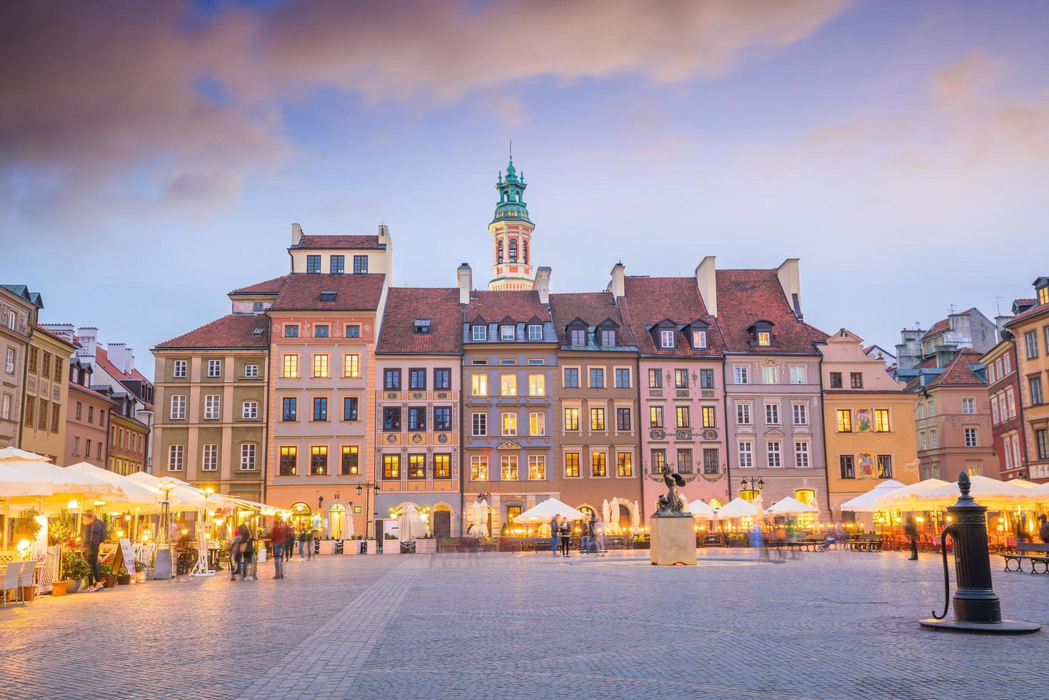 Old town square in Warsaw Poland photo