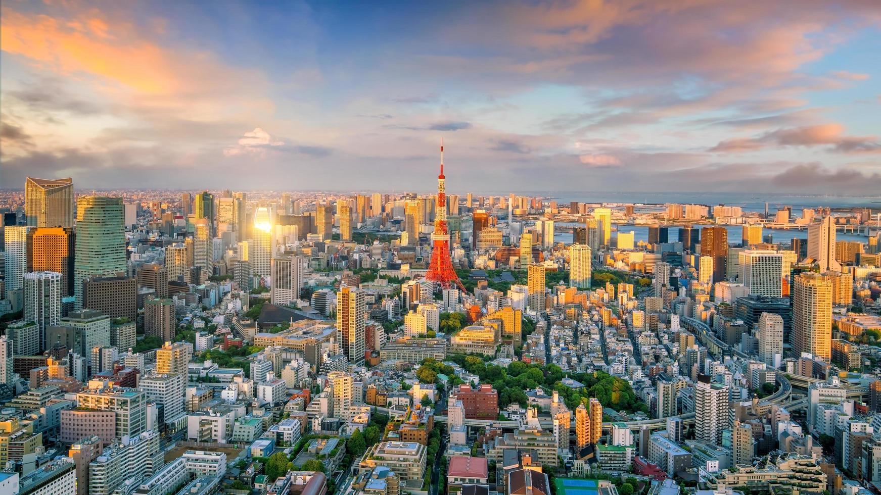 horizonte de la ciudad de tokio foto