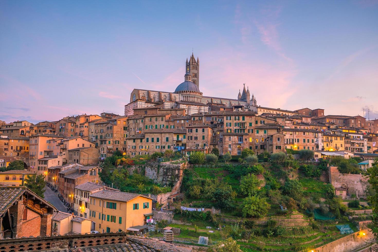 Downtown Siena skyline in Italy photo