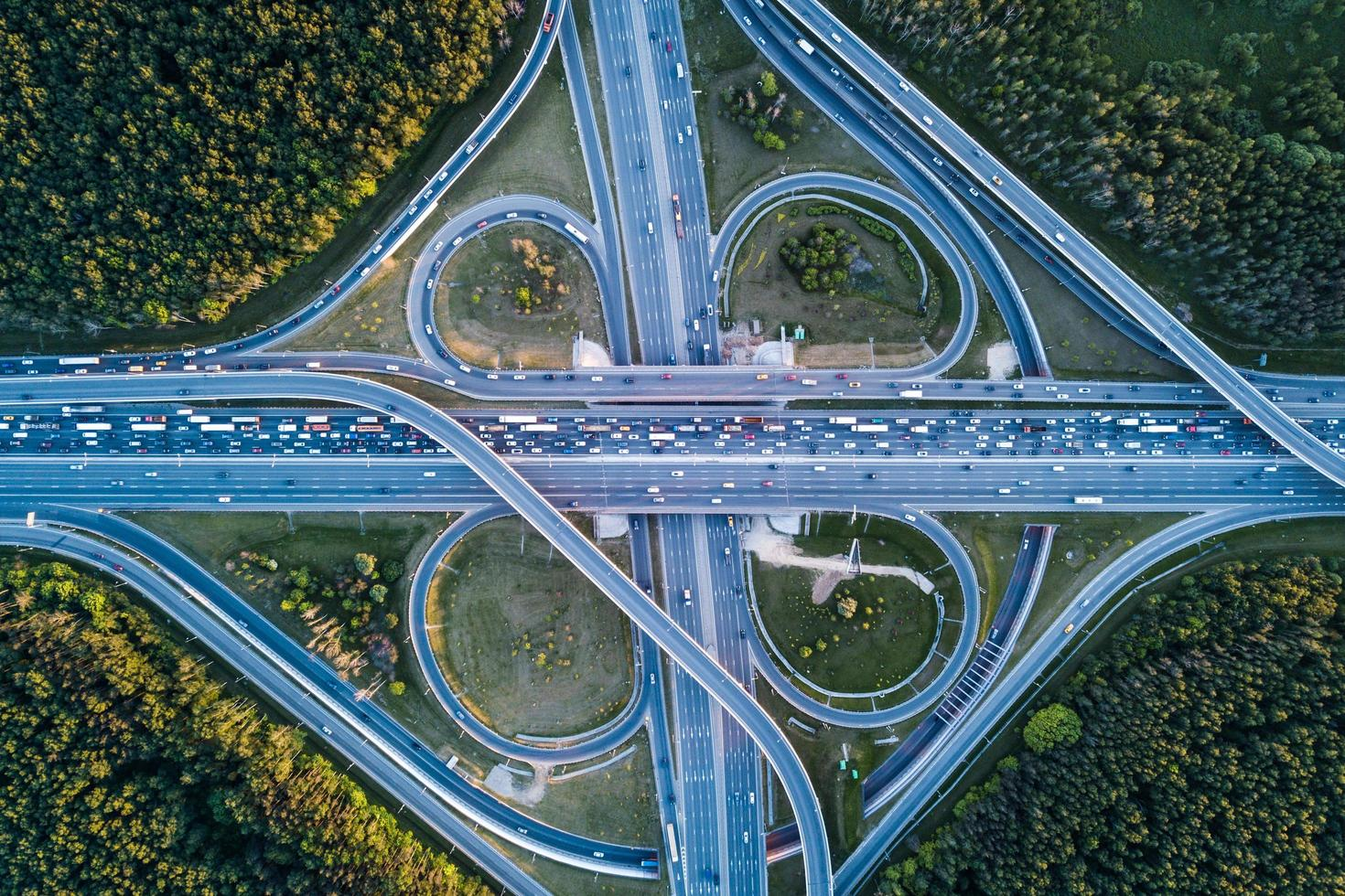 Aerial photography of freeway photo
