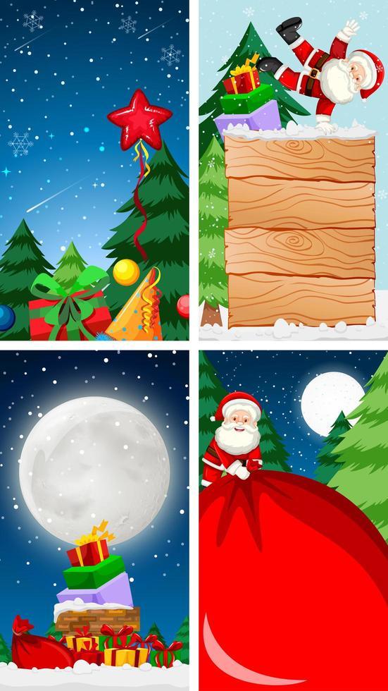 plantillas de fondo con tema navideño vector
