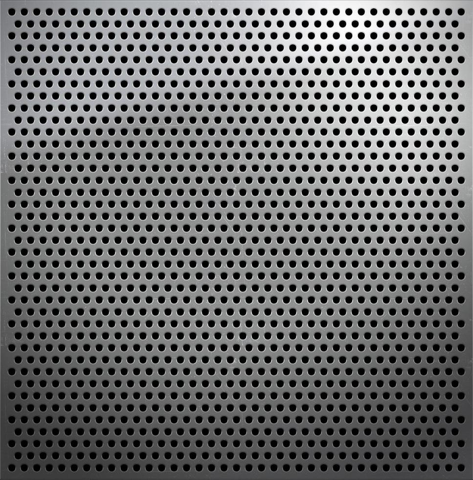 Metal sheet with small holes photo