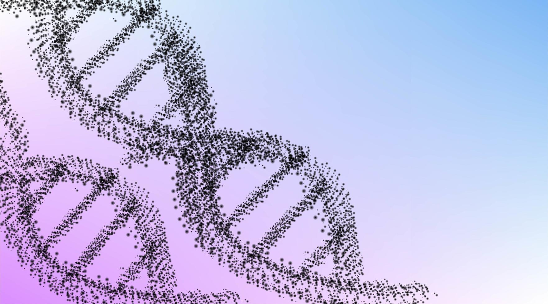Polygonal DNA concept background vector