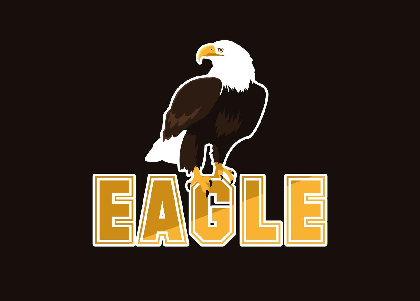 Bald eagle bird with word vector